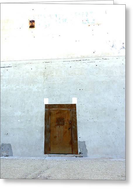 Unadorned Greeting Cards - Side Door Greeting Card by Lin Haring