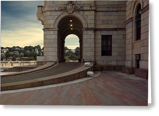 Capitol Greeting Cards - Side Entrance Greeting Card by Lourry Legarde
