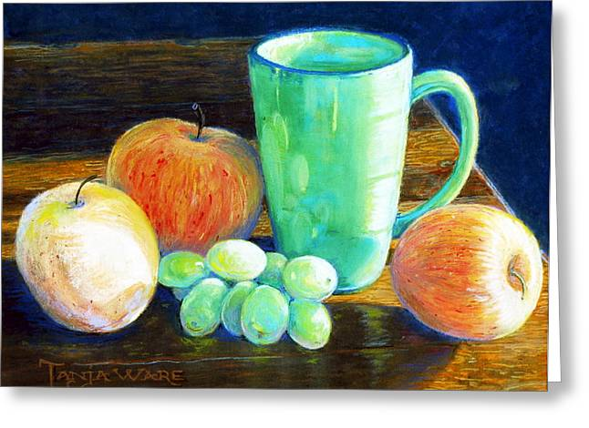 Apple Pastels Greeting Cards - Side Light Greeting Card by Tanja Ware