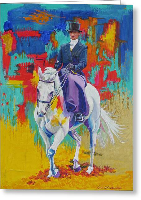 Side Saddle Greeting Cards - Side Saddle Contemporary Greeting Card by Tomas OMaoldomhnaigh