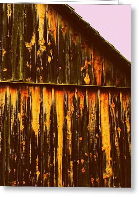 North Carolina Barn Greeting Cards - Side Slice Greeting Card by Randall Weidner