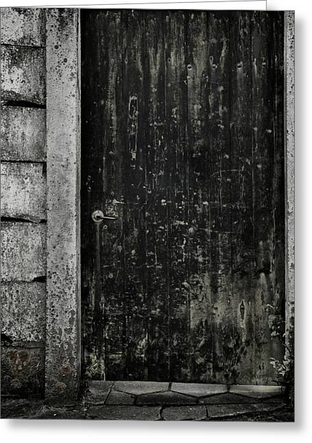 Old Door Greeting Cards - Side Street Greeting Card by Odd Jeppesen