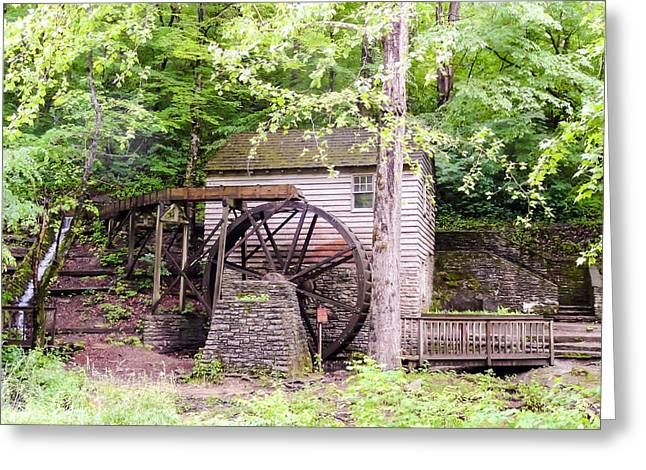Tennessee Historic Site Photographs Greeting Cards - Side View of Rice Grist Mill Norris Dam State Park Tennessee Greeting Card by Cynthia Woods
