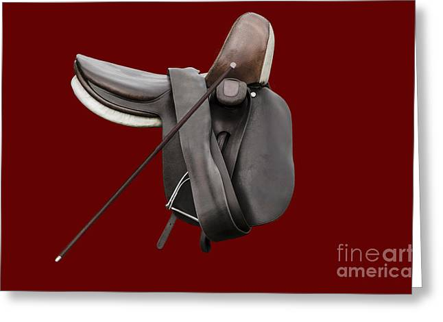 Sidesaddle And Crop Greeting Card by Linsey Williams