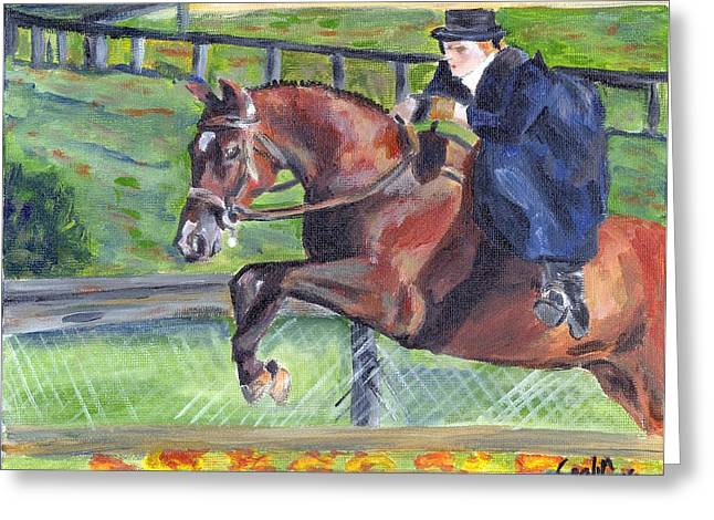 Sidesaddle Greeting Cards - Sidesaddle Horse Portrait   Greeting Card by Olde Time  Mercantile