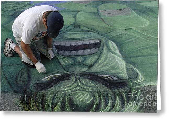 Florida Landscape Photography Greeting Cards - Sidewalk Art 4 Greeting Card by Bob Christopher