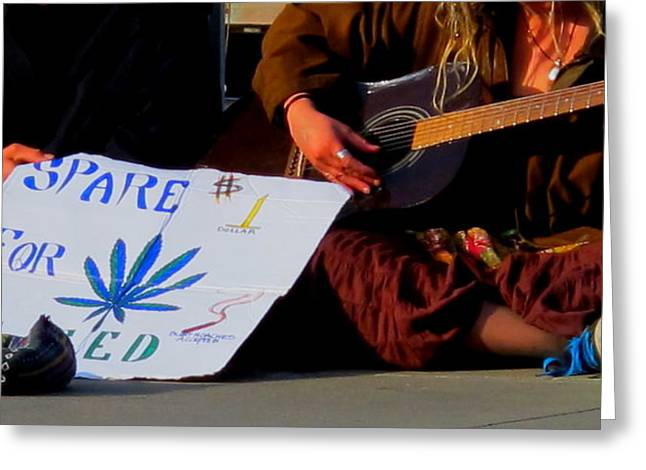 Cannibus Greeting Cards - Sidewalk Song Greeting Card by John King