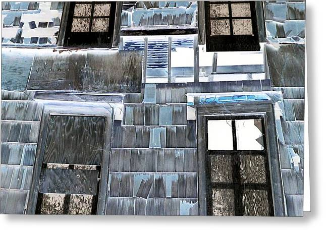 Surreal Landscape Greeting Cards - Siding And Windows Greeting Card by Dietrich ralph  Katz