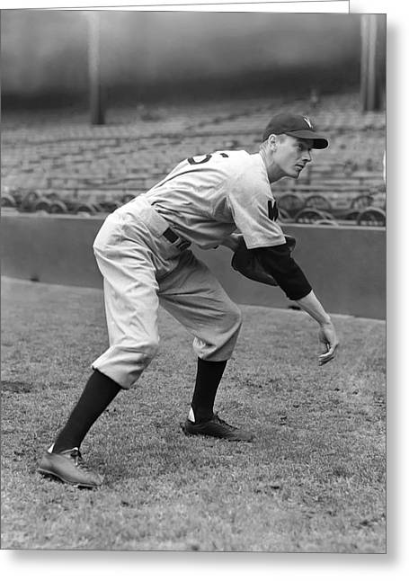 Mlb All Stars Greeting Cards - Sidney C. Sid Hudson Greeting Card by Retro Images Archive