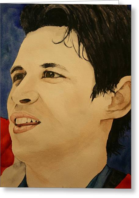 Sidney Crosby Greeting Cards - Sidney Crosby Greeting Card by Betty-Anne McDonald