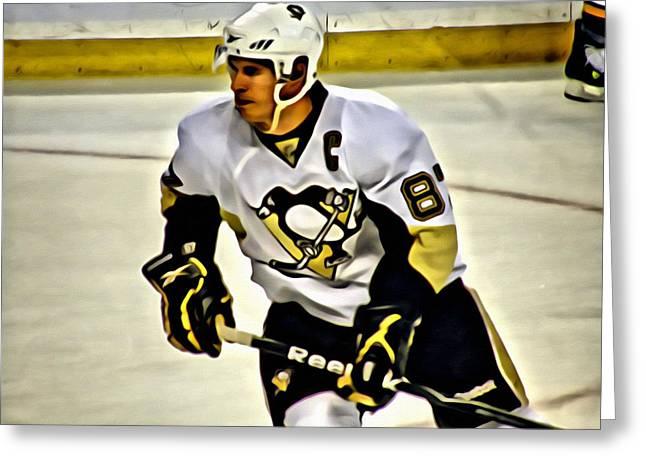 Sidney Crosby Greeting Cards - Sidney Crosby Greeting Card by Florian Rodarte