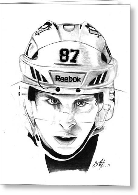 Sidney Crosby Greeting Cards - Sidney Crosby Greeting Card by Scott Karan
