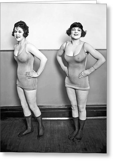 Sidney Lust Chorus Girls Greeting Card by National Photo Company