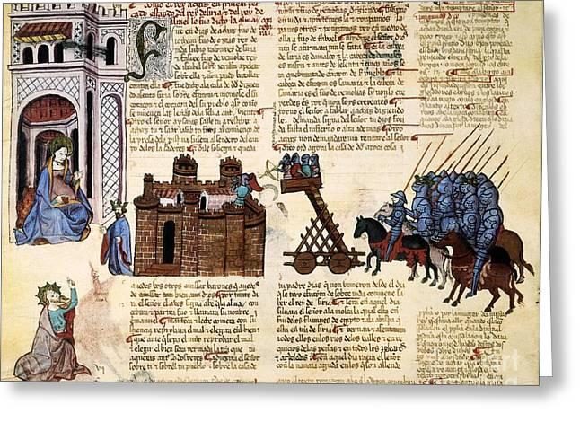 Book Of Isaiah Greeting Cards - Siege Of Jerusalem, 1430 Artwork Greeting Card by Patrick Landmann