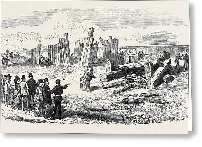 Siege Operations At Chatham Destruction Of The Stockade Greeting Card by English School
