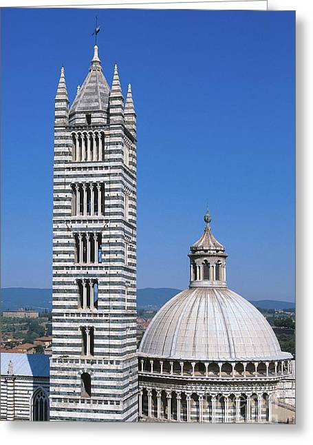 Siena Chapel Greeting Cards - Siena Greeting Card by Chris Selby