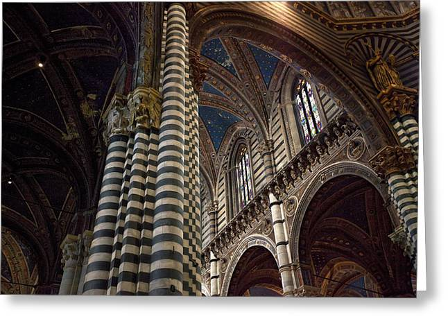 Siena Italy Greeting Cards - Siena church Greeting Card by Al Hurley