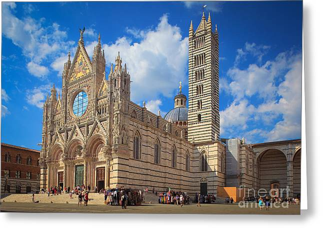 Christianity Greeting Cards - Siena Duomo Greeting Card by Inge Johnsson