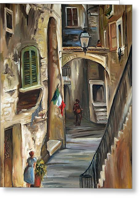White Lady Greeting Cards - Siena Italy Greeting Card by Carole Foret