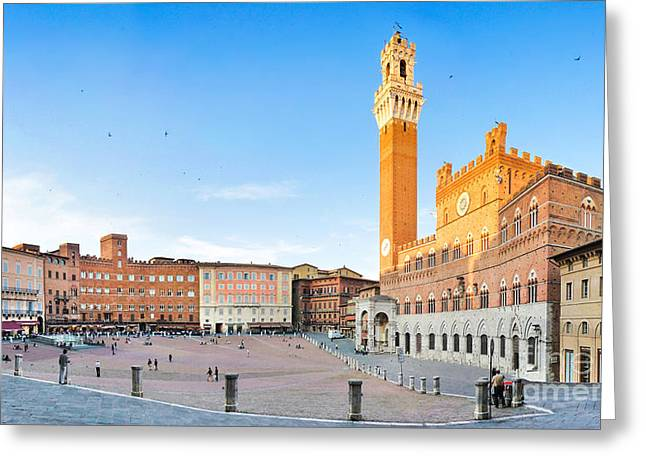 Siena Sunset Greeting Card by JR Photography