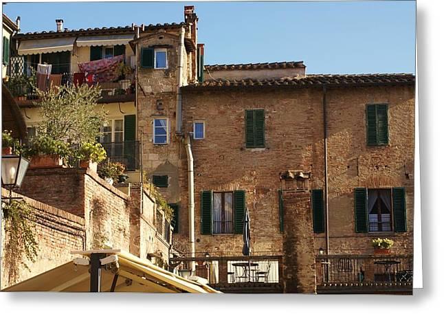 Sienna Italy Photographs Greeting Cards - Sienna Greeting Card by Barbara Stellwagen