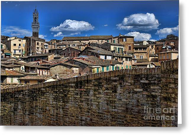 Sienna Italy Greeting Cards - Sienna Greeting Card by Claude Gariepy