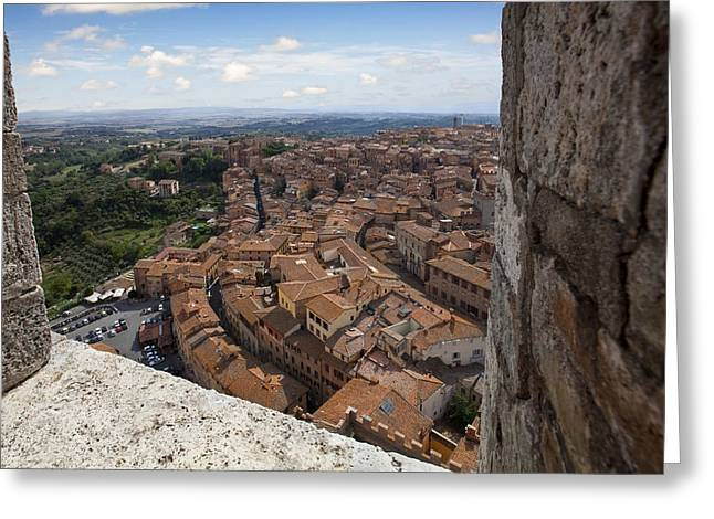 Sienna Greeting Cards - Siena from above Greeting Card by Al Hurley