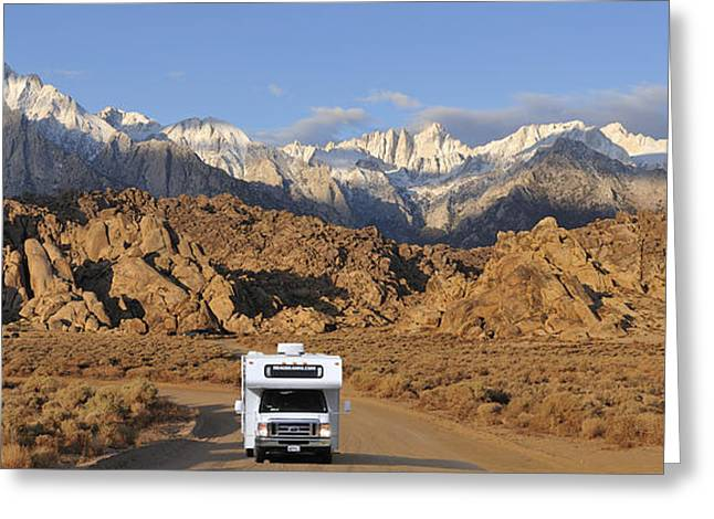 Rv Greeting Cards - Sierra Greeting Card by Christian Heeb