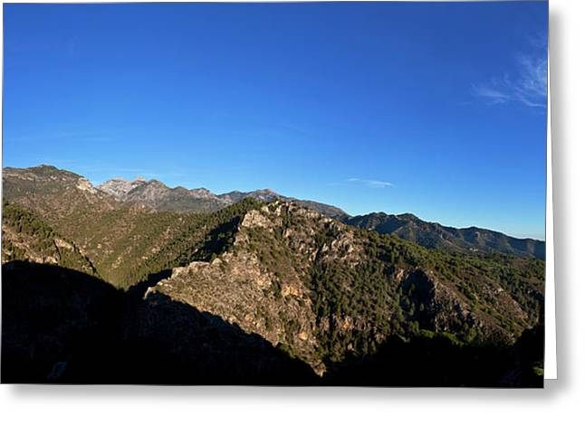 Sierra De Enmedia Mountains,north East Greeting Card by Panoramic Images
