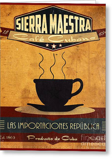 Beverage Digital Art Greeting Cards - Sierra Maestra Cuban Coffee Greeting Card by Cinema Photography