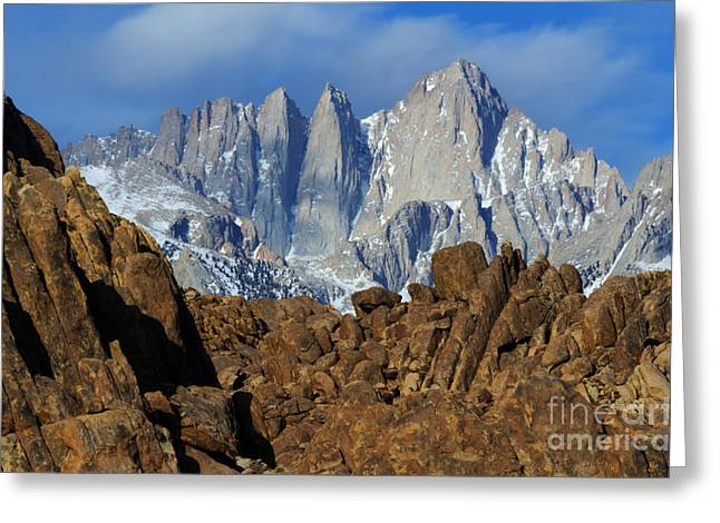 Mount Whitney Greeting Cards - Sierra Nevada California Greeting Card by Bob Christopher