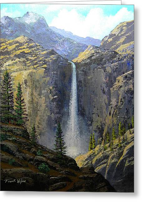 Timberline Greeting Cards - Sierra Nevada Waterfall Greeting Card by Frank Wilson