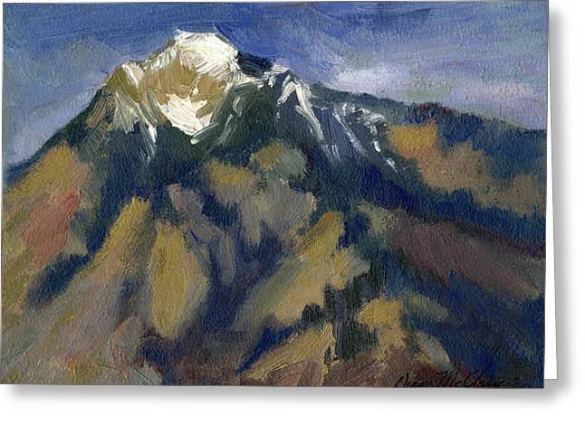 Bishops Peak Greeting Cards - Sierra Nevadas Mount Tom Greeting Card by Diane McClary