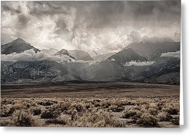 Desert Storm Greeting Cards - Sierra Thunderstorm Greeting Card by Cat Connor