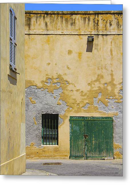 Entryway Greeting Cards - Siesta In Antibes Greeting Card by Ben and Raisa Gertsberg