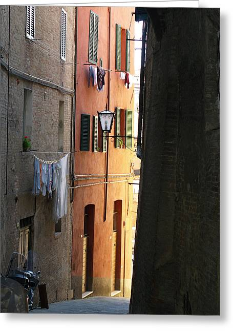 Sienna Italy Greeting Cards - Siesta in Sienna Italy Greeting Card by Haleh Mahbod