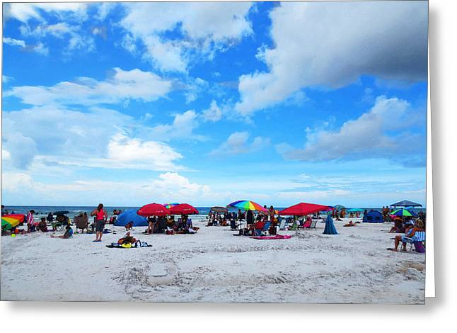 Umbrellas Greeting Cards - Siesta Key Summer - Beach Art By Sharon Cummings Greeting Card by Sharon Cummings