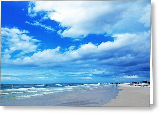Surfer Art Greeting Cards - Siesta Sky - Beach Art By Sharon Cummings Greeting Card by Sharon Cummings