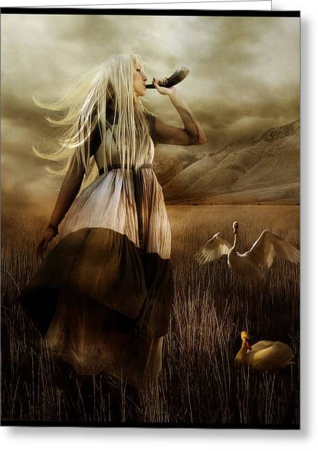 Norse Mythology Greeting Cards - Siff Greeting Card by Karen H