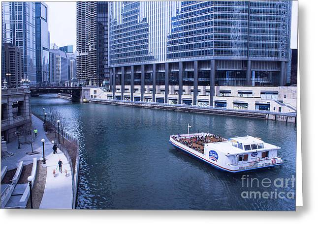 Magnificent Mile Greeting Cards - Sightseeing Greeting Card by Arlene Carmel