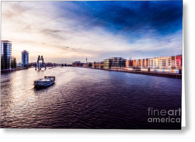 Hannes Cmarits Greeting Cards - Sightseeing at sunset Greeting Card by Hannes Cmarits