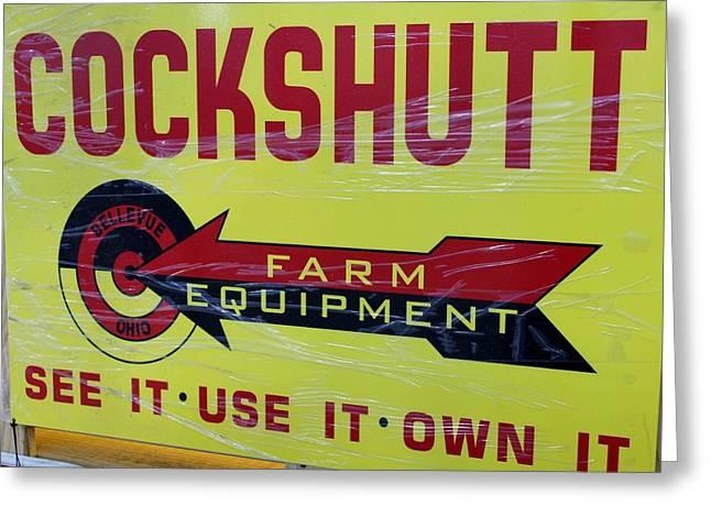 Cockshutt Sign Greeting Card by Nelson Skinner