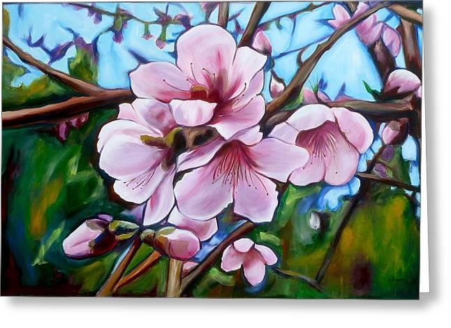 Sheila Diemert Paintings Greeting Cards - Sign of Spring Greeting Card by Sheila Diemert
