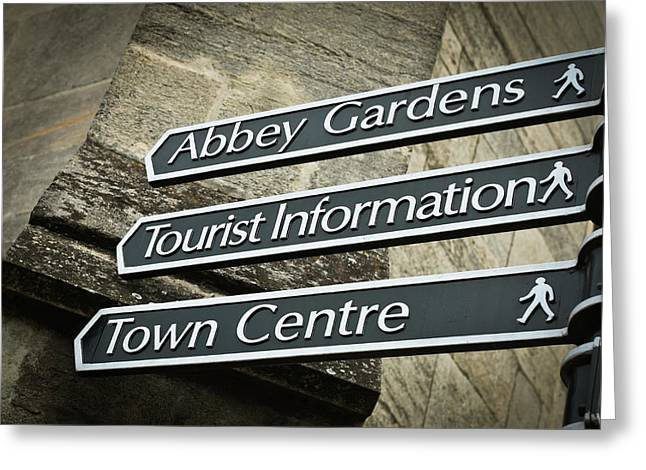 Abbey Greeting Cards - Sign posts Greeting Card by Tom Gowanlock
