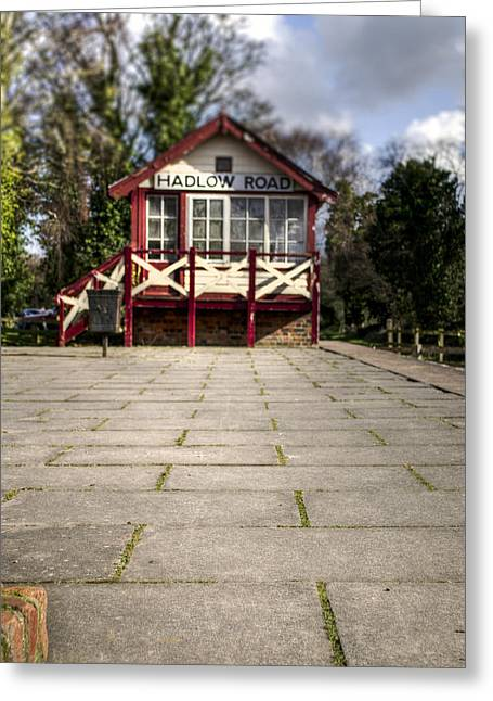 Signalbox Greeting Cards - Signal Box Greeting Card by Karen Lawrence  SMPhotography
