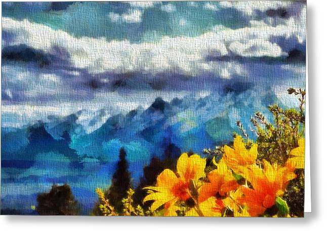 National Mixed Media Greeting Cards - Signal Mountain Summer Greeting Card by Dan Sproul