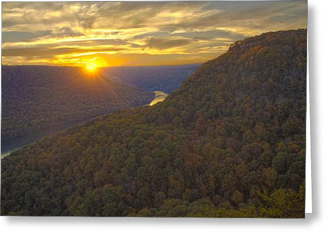 Tennessee River Greeting Cards - Signal Sunset Greeting Card by Ryan Moyer