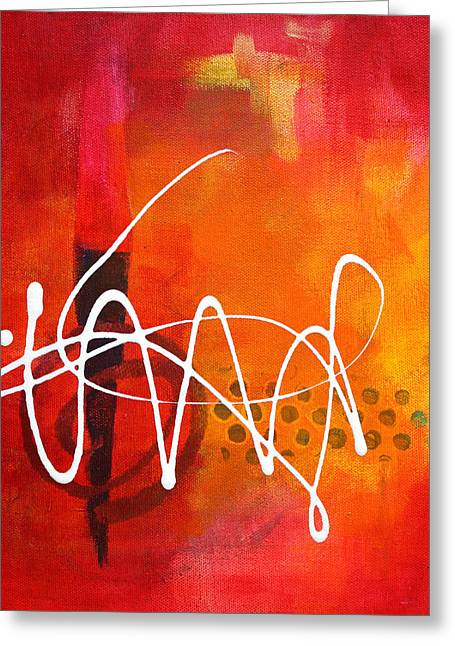 Squiggles Greeting Cards - Signature 2 Greeting Card by Nancy Merkle