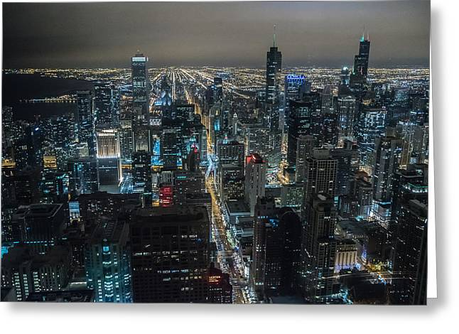 Magnificent Mile Greeting Cards - Signature Chicago Greeting Card by Alan Marlowe