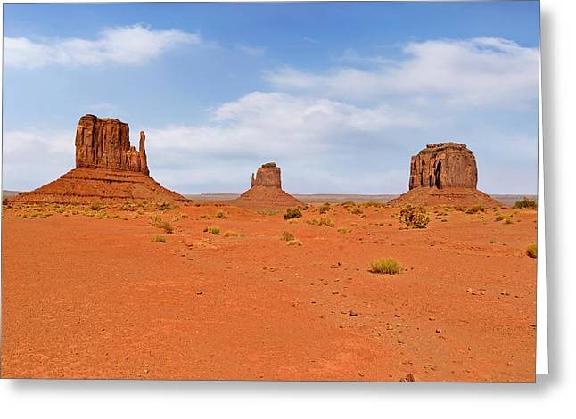 Signatures of Monument Valley Greeting Card by Christine Till